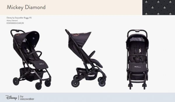 Stroller Easywalker Disney XS Mickey Diamond