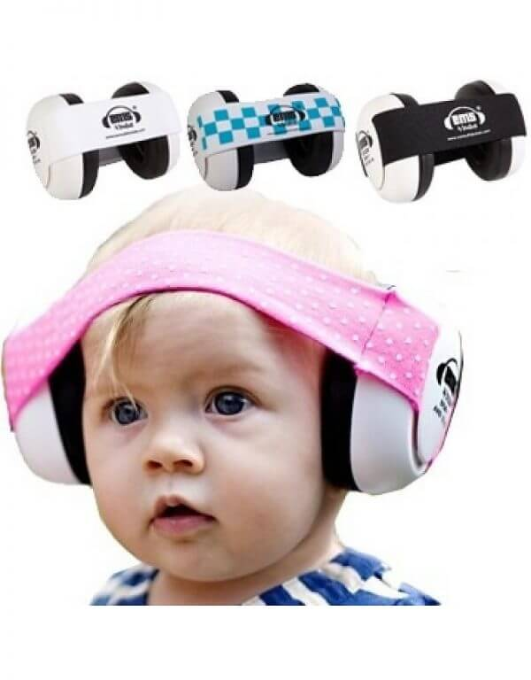 Earmuff Ems Baby Earmuff (Black with Black stripe)