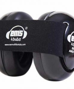 Earmuff Ems Baby Earmuff (Black with Black stripe)