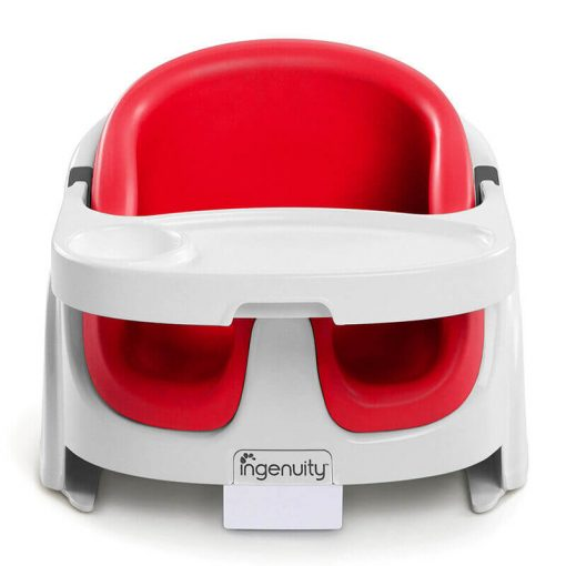 Kursi Makan dan Highchair Ingenuity Baby Base 2in1 Booster Seat – Red