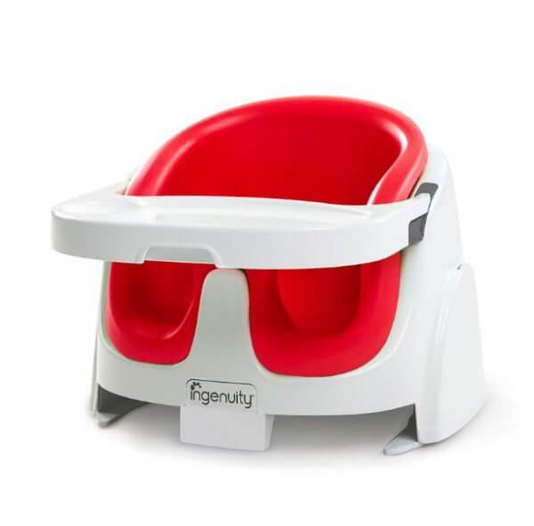 Kursi Makan Ingenuity Baby Base 2in1 Booster Seat – Red