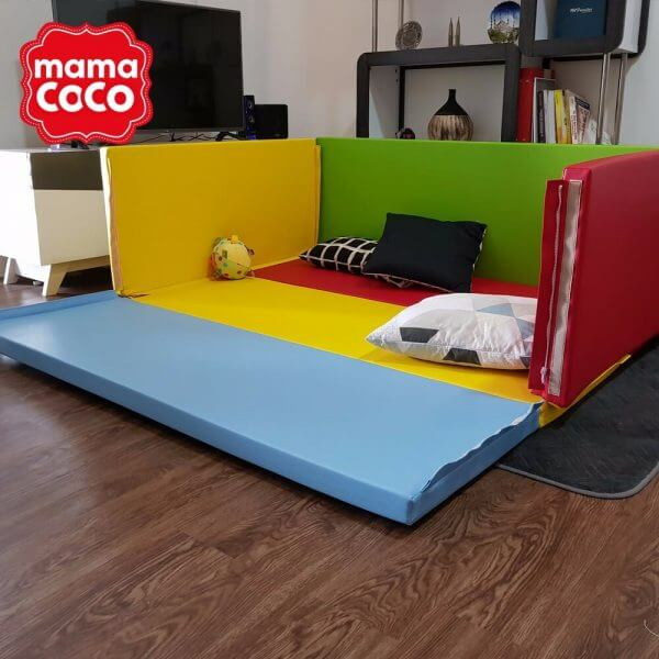 Bumperbed & Playmat Mamacoco Bumpermat – Rainbow