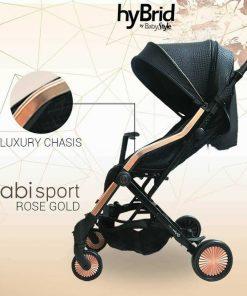 Stroller BabyStyle Hybrid Cabi Sport – Rose Gold