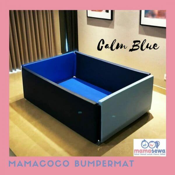 Bumperbed & Playmat Mamacoco Bumpermat – Calm Blue