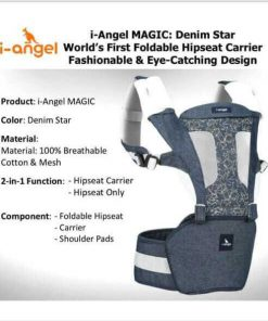 Baby Carrier I Angel Hipseat Carrier Magic 7 – Denim Star
