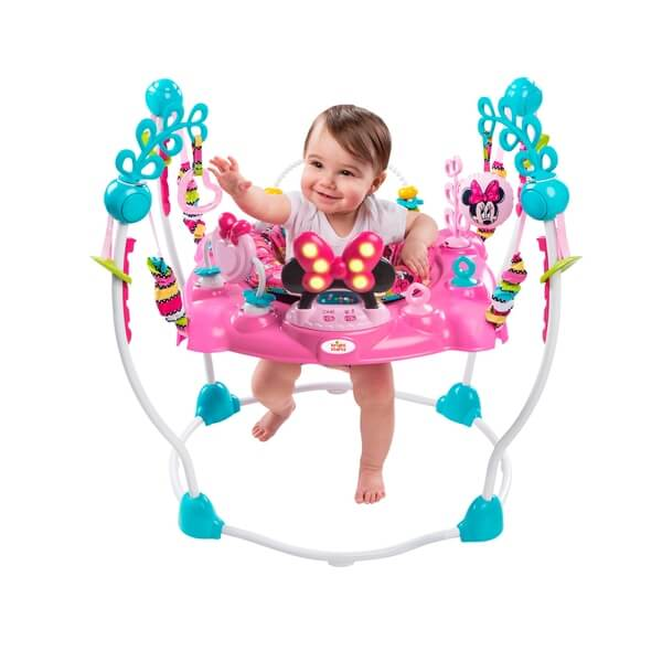 Baby Jumper Bright Starts Jumperoo Minnie Mouse Peekaboo Activity Jumper