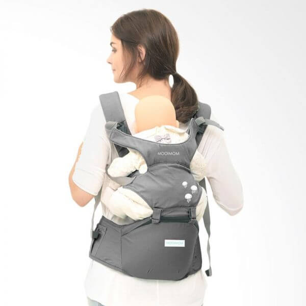 Baby Carrier Mooimom Hipseat Carrier – GREY