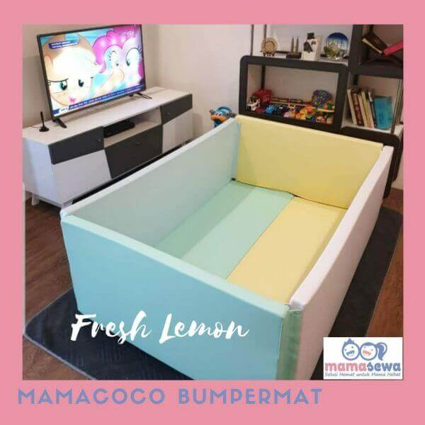Bumperbed & Playmat Mamacoco – Fresh Lemon