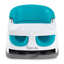 Kursi Makan dan Highchair Ingenuity Baby Base 2in1 Booster Seat – Blue