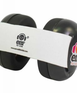 Earmuff Ems Baby Earmuff (Black with White stripe)