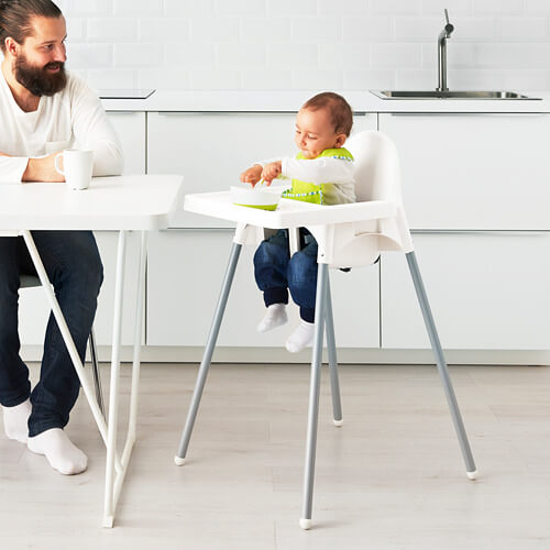 Kursi Makan IKEA Antilop High Chair – White