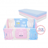 Bumperbed & Playmat Lumba Play Fence Airplane Blue Pink 10+2 with Playmat