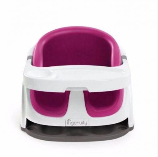 Kursi Makan dan Highchair Ingenuity Baby Base 2in1 Booster Seat – Pink Flambe