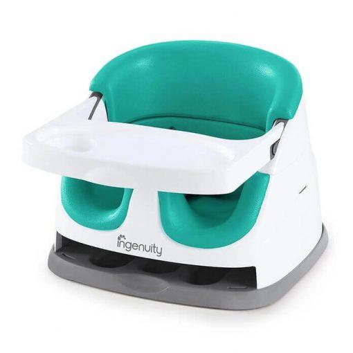 Kursi Makan dan Highchair Ingenuity Baby Base 2in1 Booster Seat – Ultramarine Green