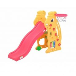 Toys Labeille Bunny Slide and Basketball – Yellow Pink