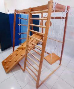 Baby Activities Brakiasi Natural Wood Type Silinder Atas Double – Full Set