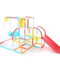 Toys Grow n Up 4-in-1 Climb N Slide Swing Set – Ayunan dan Seluncuran