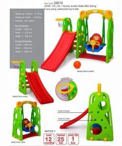 Toys Tobebe Jumbo Sunny Slide with Swing – Ayunan dan Seluncuran