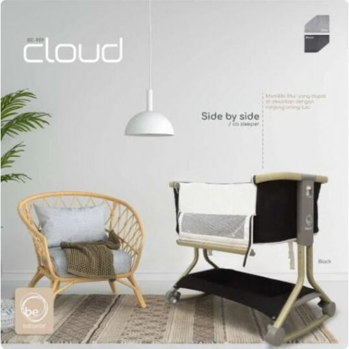 Box Bayi BabyElle Cloud Baby Box Bedside BE 909 – Dark Grey