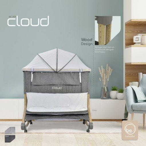 Box Bayi BabyElle Cloud Bedside Baby Box BE 909 – Grey