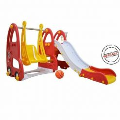 Toys Labeille Luxury London Bus Slide and Swing – Red