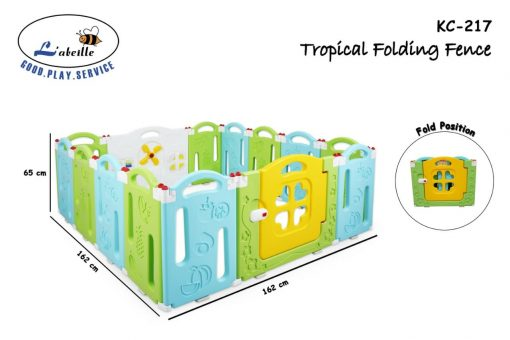 Baby Fence Labeille Tropical Fruit Folding Fence 12+2 Pagar Anak