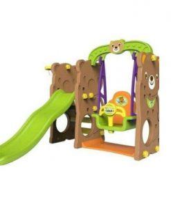 Toys Tobebe Jumbo Bear Slide with Swing – Ayunan dan Seluncuran