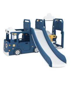 Toys Happy Play Bus Slide Swing 3in1 – Blue