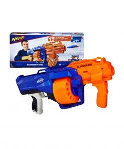 Toys Pistol Mainan Nerf Gun N-Strike Elite Surgefire + Papan Target Otomatis
