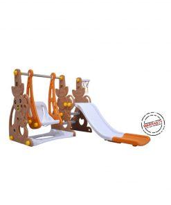 Toys Ayunan dan Seluncuran Labeille Kangaroo Slide and Swing – Brown