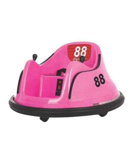 Motor/Mobil Aki Bumper Car Mini Bombomcar – Pink (Termasuk Remote Control)