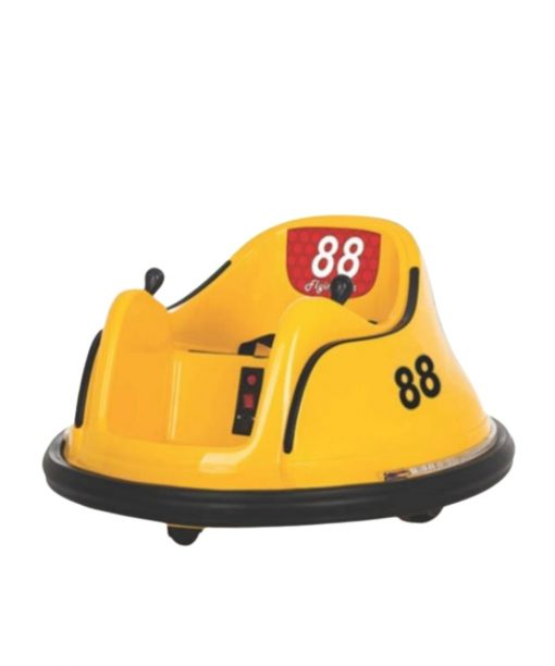 Motor/Mobil Aki Bumper Car Mini Bombomcar – Yellow (Termasuk Remote Control)