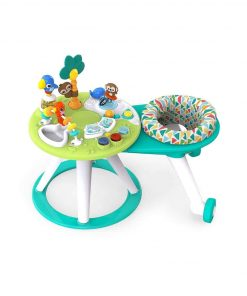 Baby Activities Bright Starts Around We Go 2-in-1 Walk-Around Activity Center & Table – Tropic Cool
