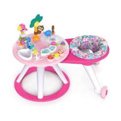 Baby Activities Bright Starts Around We Go 2-in-1 Walk-Around Activity Center & Table – Tropic Coral