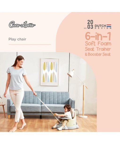 Kursi Makan dan Highchair Cocolatte 6in1 Soft Foam Seat Booster Seat – Peach (Termasuk Bantal)