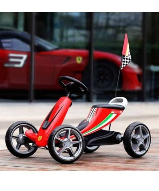 Sepeda Pliko Scuderia Ferrari Go Kart Ride On Pedal